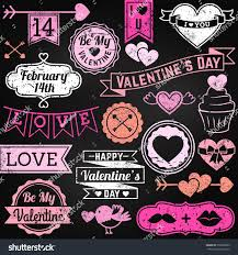 Valentine S Day Decor Sale by Chalkboard Valentines Day Ornaments Badges Vector Stock Vector