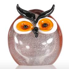 aliexpress buy tooarts owl glass ornament animal