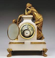 Mantel Clocks Antique Vincenti U0026 Cie Marble And Bronze Mantel Clock Garniture 1855 From