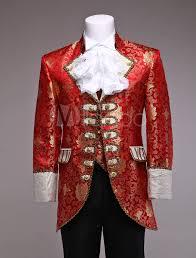 retro prince costume men u0027s red jacquard european vintage royal