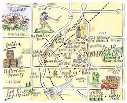 downtown denver map denver co mappery