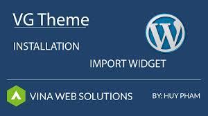 vg theme documentation import widget youtube