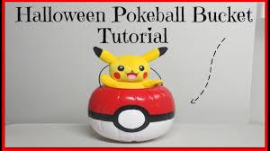 light up halloween buckets diy pokeball halloween candy bucket tutorial youtube