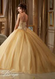 gold quince dresses beading on a tulle quinceañera dress style 89109 morilee