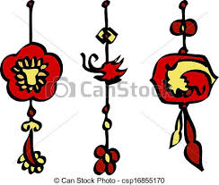 Lunar New Year Decoration Vector vectors illustration of chinese new year decorations vector