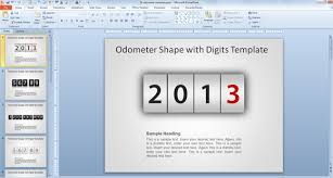 Excel Speedometer Template Speedometer Template With Digits For Powerpoint Presentations