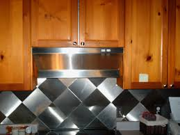 interesting cream color metal tiles kitchen backsplash come with