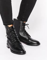 womens boots asos asos aerodrome leather lace up ankle boots shoes