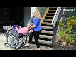 stair trac sa s wheelchair climber demo youtube