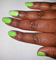 florescent summer nails with gelish colors of paradise collection