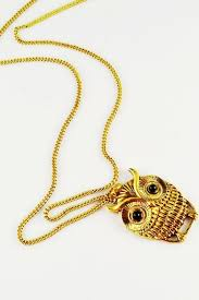 necklace pendant design gold images Gold owl pendant design chain link necklace 004911 necklaces jpg