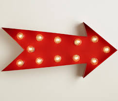 arrow of light decorations red arrow marquee light decor by color
