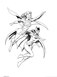 How To Draw Coloring Pages Batgirl And Supergirl Coloring Pages Printable