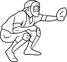 baseball catcher coloring sports coloring pages