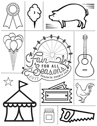 country fair coloring pages virtren com