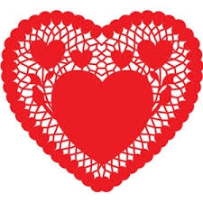 heart doily silhouette design store view design 25093 heart doily