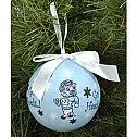 unc carolina handmade glass ornament by scrapsandflowers