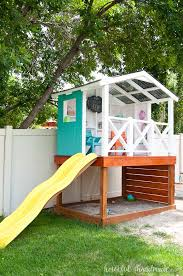 Backyard Clubhouse Plans by How To Build An Outdoor Playhouse For Kids A Houseful Of Handmade