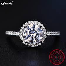 white zircon rings images Blaike vintage genuine 925 sterling silver round april diamond jpg