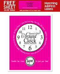 around the clock bridal shower 8 around the clock bridal shower party invitations