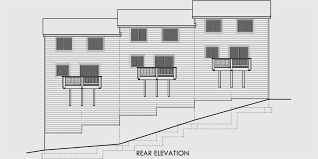 triplex house plans 3 bedroom town houses 25 ft wide house plan