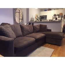 Room And Board Sectional Sofa Brown Room Board Metro Sectional Sofa And Chaise Chairish