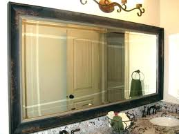 how to frame a bathroom mirror with clips how to frame bathroom mirror with molding mirror with crown