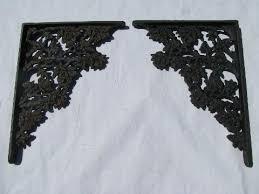 Corbel Shelf Brackets Vintage Cast Iron Hardware Shelves Supports Floral Pattern Corbel