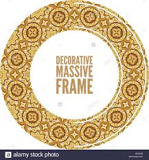 vector ornate frame in victorian style decorative element for