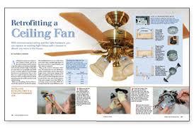 Contractor Ceiling Fans retrofitting a ceiling fan greenbuildingadvisor com