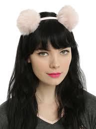 jimi headband light pink fluffy pom pom headband hot topic