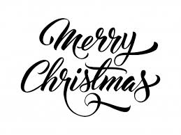 merry handwritten text vector free