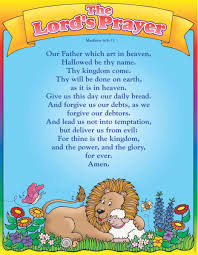 lords prayer biblical friendly chart classroom