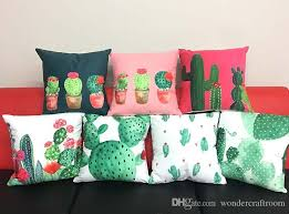 10 styles tropical summer vibes cactus cushion covers watercolor