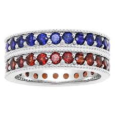 stacked birthstone rings custom made birthstone eternity stackable ring in white gold
