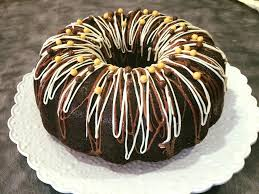 chocolate bunt cake with cream cheese filling youtube
