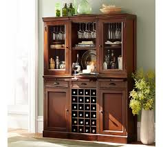 Furniture Wine Bar Cabinet Build Your Own Modular Bar Cabinets Pottery Barn