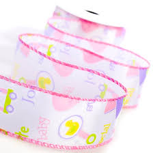 it s a girl ribbon baby girl wired ribbon it s a girl theme baby shower baby
