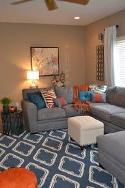 Gray Blue Living Room Omaha Interior Design Gray Blue And Orange Living Room This Is