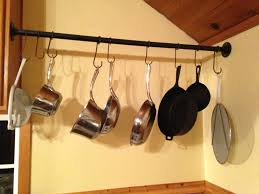 lighted hanging pot racks kitchen kitchen accessories hanging pot rack all bars pot rack metal pot