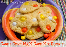 halloween m m candy candy corn m u0026m cake mix cookies the coers family