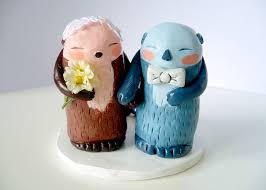 otter cake topper wedding cake topper not on the high personalised mr and