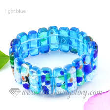 murano glass beads bracelet images Stretch foil lampwork murano glass beads bracelets jewelry wholesale jpg