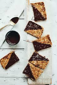 Top 10 Healthiest Granola Bars by Crunchy Baked Granola Bars Minimalist Baker Recipes