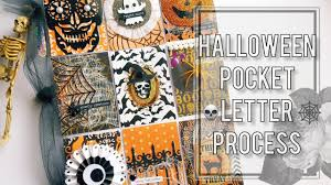 halloween pocket letter process boo youtube