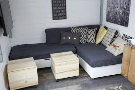 Ana White Tiny House Kitchen by Ana White Making Cushions For Tiny House Storage Sectional Diy