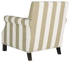 Striped Accent Chair Beige U0026 White Striped Accent Chair Safavieh Com