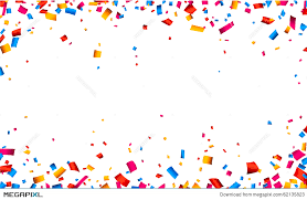 confetti celebration frame background illustration 62135823 megapixl