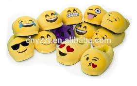 free sample emoji slipper stuffed adults plush funny emoji slipper