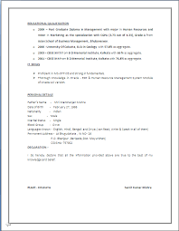 Hr Resume Format For Freshers A Beautyful Resume Sample In Word Doc Mba Hr With 4 Years